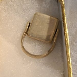 Solid sterling spinner ring sz 8